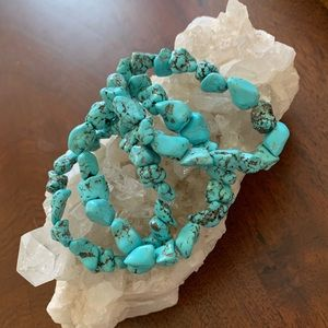 Jewelry - Set of three turquoise handmade bracelets